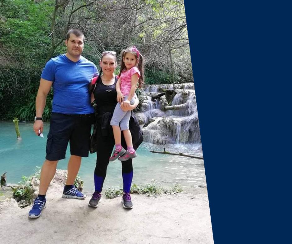 Marina Nikolova at family vacation